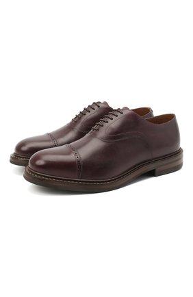 Мужские кожаные оксфорды O`KEEFFE бордового цвета, арт. 0K1565/BAR0N   Фото 1