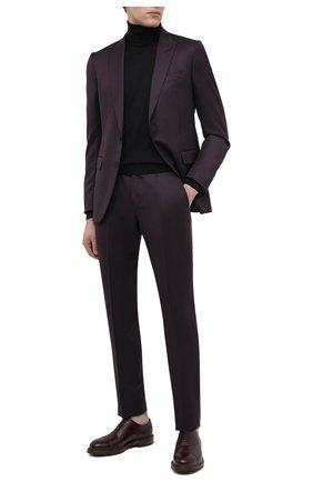 Мужские кожаные оксфорды O`KEEFFE бордового цвета, арт. 0K1565/BAR0N   Фото 2