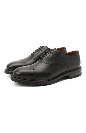 Мужские кожаные оксфорды O`KEEFFE черного цвета, арт. 0K1565/QUEBEC   Фото 1