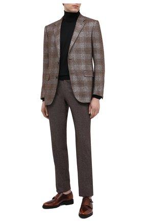Мужские кожаные монки SANTONI коричневого цвета, арт. MCBN17125PW5HSYCM48 | Фото 2