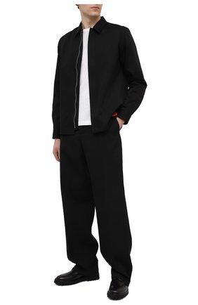 Мужской кожаные дерби KENZO черного цвета, арт. FA65DB003L66 | Фото 2