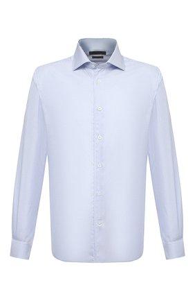 Мужская хлопковая сорочка CORNELIANI голубого цвета, арт. 86P100-0811262/00 | Фото 1
