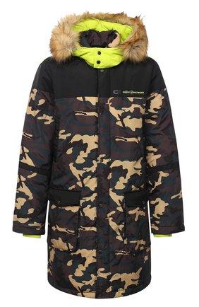 Мужская утепленное пальто COMME DES FUCKDOWN разноцветного цвета, арт. CDFU951   Фото 1