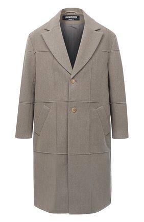 Мужской шерстяное пальто JACQUEMUS светло-серого цвета, арт. 206C001/123850 | Фото 1
