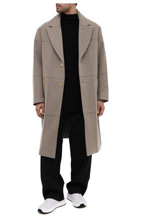 Мужской шерстяное пальто JACQUEMUS светло-серого цвета, арт. 206C001/123850 | Фото 2