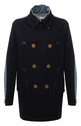 Мужской шерстяное пальто SACAI темно-синего цвета, арт. 20-02378M | Фото 1