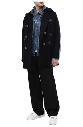 Мужской шерстяное пальто SACAI темно-синего цвета, арт. 20-02378M | Фото 2