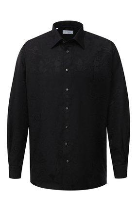 Мужская хлопковая сорочка ETON черного цвета, арт. 1000 01486 | Фото 1