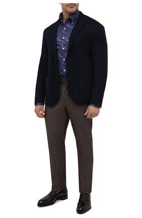 Мужская хлопковая сорочка SONRISA синего цвета, арт. IFJ7167/J820/47-51 | Фото 2