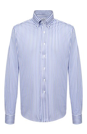 Мужская хлопковая сорочка SONRISA голубого цвета, арт. IFJ7167/J824/47-51 | Фото 1 (Big sizes: Big Sizes; Рукава: Длинные; Рубашки М: Regular Fit; Принт: Полоска; Длина (для топов): Стандартные; Материал внешний: Хлопок; Стили: Классический; Случай: Формальный)