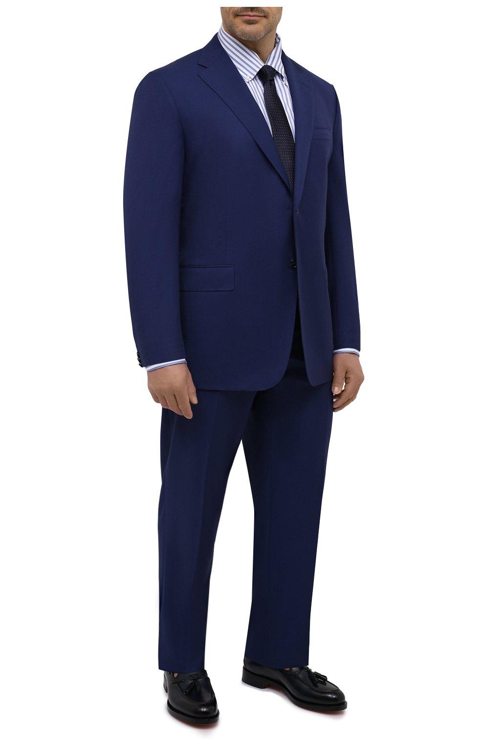 Мужская хлопковая сорочка SONRISA голубого цвета, арт. IFJ7167/J824/47-51 | Фото 2 (Big sizes: Big Sizes; Рукава: Длинные; Рубашки М: Regular Fit; Принт: Полоска; Длина (для топов): Стандартные; Материал внешний: Хлопок; Стили: Классический; Случай: Формальный)