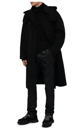 Мужской шерстяное пальто STELLA MCCARTNEY черного цвета, арт. 601844/SP007 | Фото 2