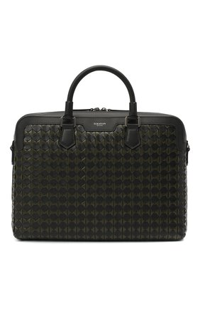 Мужская кожаная сумка для ноутбука mosaico SERAPIAN хаки цвета, арт. SM0SAMLL7121M37A | Фото 1