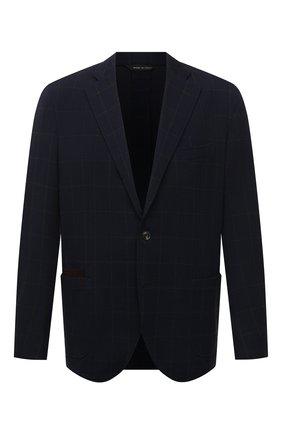Мужской пиджак LUCIANO BARBERA темно-синего цвета, арт. 111210/19077/58-62 | Фото 1