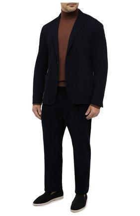 Мужской пиджак LUCIANO BARBERA темно-синего цвета, арт. 111210/19077/58-62 | Фото 2