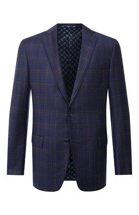 Мужской шерстяной пиджак ZILLI синего цвета, арт. MNU-VG2Y-2-D6607/M001 | Фото 1