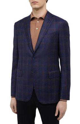 Мужской шерстяной пиджак ZILLI синего цвета, арт. MNU-VG2Y-2-D6607/M001 | Фото 3