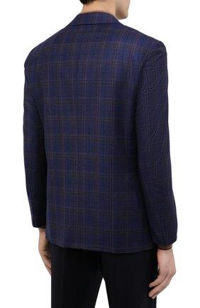 Мужской шерстяной пиджак ZILLI синего цвета, арт. MNU-VG2Y-2-D6607/M001 | Фото 4