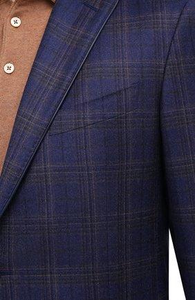 Мужской шерстяной пиджак ZILLI синего цвета, арт. MNU-VG2Y-2-D6607/M001 | Фото 5