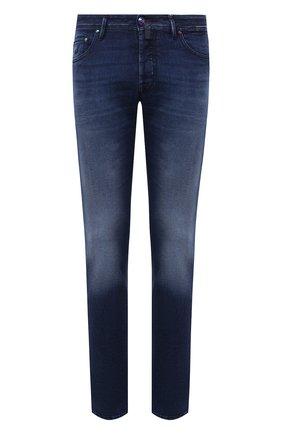 Мужские джинсы JACOB COHEN синего цвета, арт. J688 ECCELLENZA C0MF 02055-W2/54 | Фото 1