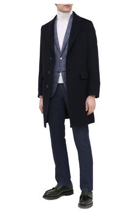 Мужской шерстяной пиджак CORNELIANI голубого цвета, арт. 86X240-0816372/90   Фото 2