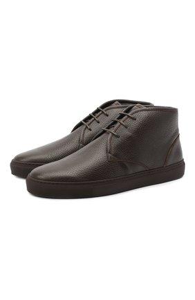 Мужские кожаные ботинки CORNELIANI коричневого цвета, арт. 86TM44-0820955 | Фото 1