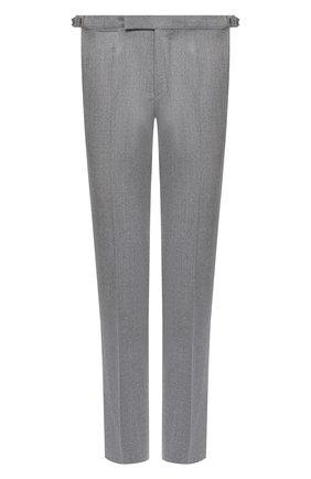 Мужские шерстяные брюки ERMENEGILDO ZEGNA светло-серого цвета, арт. 830F18/75F812 | Фото 1 (Материал подклада: Вискоза; Длина (брюки, джинсы): Стандартные; Материал внешний: Шерсть; Случай: Формальный; Стили: Классический)
