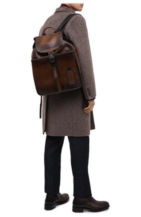 Мужской кожаный рюкзак BERLUTI коричневого цвета, арт. M213270 | Фото 2