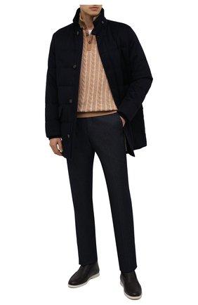 Мужской брюки LORO PIANA темно-синего цвета, арт. FAL4070 | Фото 2