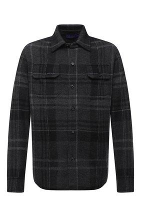 Мужская кашемировая рубашка RALPH LAUREN темно-серого цвета, арт. 790812514 | Фото 1