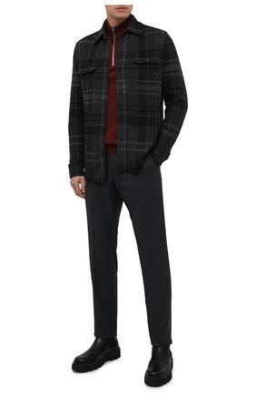 Мужская кашемировая рубашка RALPH LAUREN темно-серого цвета, арт. 790812514 | Фото 2
