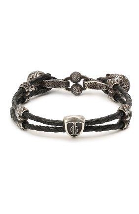 Женский браслет двойная петля веселого роджера GL JEWELRY серебряного цвета, арт. M4401016-S97-01 | Фото 1