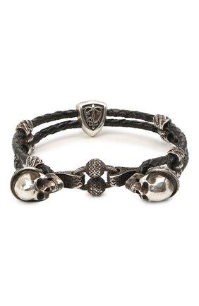 Женский браслет двойная петля веселого роджера GL JEWELRY серебряного цвета, арт. M4401016-S97-01 | Фото 2