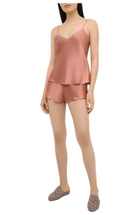 Женская шелковая пижама SIMONEPERELE бежевого цвета, арт. 15B900-15B640 | Фото 1