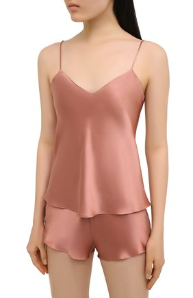 Женская шелковая пижама SIMONEPERELE бежевого цвета, арт. 15B900-15B640 | Фото 2