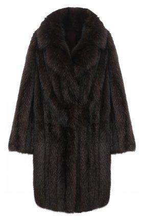 Женская шуба из меха соболя KUSSENKOVV коричневого цвета, арт. 723500004495 | Фото 1