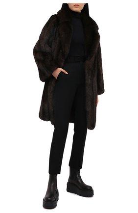 Женская шуба из меха соболя KUSSENKOVV коричневого цвета, арт. 723500004495 | Фото 2