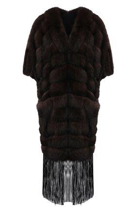 Женская шуба из меха соболя KUSSENKOVV коричневого цвета, арт. 823500003510 | Фото 1