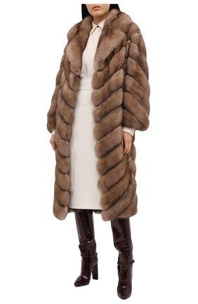 Женская шуба из меха соболя KUSSENKOVV светло-коричневого цвета, арт. 703600005515 | Фото 2