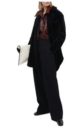 Женская шуба из меха норки KUSSENKOVV темно-синего цвета, арт. 740110019531 | Фото 2