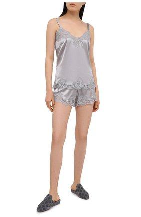 Женские шорты из шелка и хлопка DOLCE & GABBANA серого цвета, арт. 03B35T/FUAD8 | Фото 2