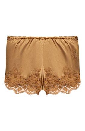 Женские шорты из шелка и хлопка DOLCE & GABBANA бежевого цвета, арт. 03B35T/FUAD8 | Фото 1