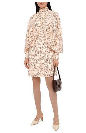 Женское платье из вискозы VICTORIA BECKHAM кремвого цвета, арт. 1420WDR002061B | Фото 2