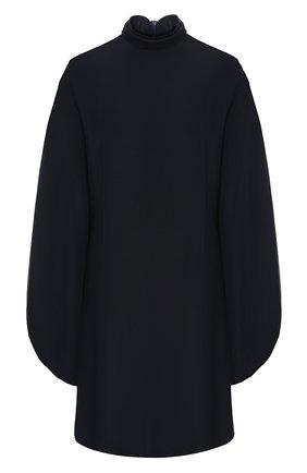 Женское шелковое платье VICTORIA BECKHAM темно-синего цвета, арт. 1420WDR002060B | Фото 1