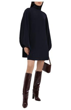 Женское шелковое платье VICTORIA BECKHAM темно-синего цвета, арт. 1420WDR002060B | Фото 2