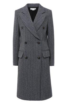 Женское пальто из шерсти и хлопка VICTORIA BECKHAM темно-синего цвета, арт. 1420WCT002037E | Фото 1