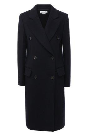 Женское пальто из шерсти и кашемира VICTORIA BECKHAM темно-синего цвета, арт. 1420WCT002037B | Фото 1