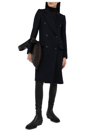 Женское пальто из шерсти и кашемира VICTORIA BECKHAM темно-синего цвета, арт. 1420WCT002037B | Фото 2