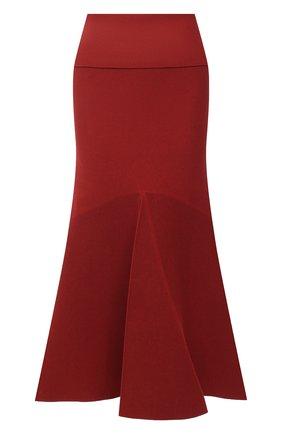 Женская юбка KENZO красного цвета, арт. FA62WJU303RG | Фото 1