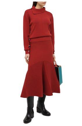 Женская юбка KENZO красного цвета, арт. FA62WJU303RG | Фото 2